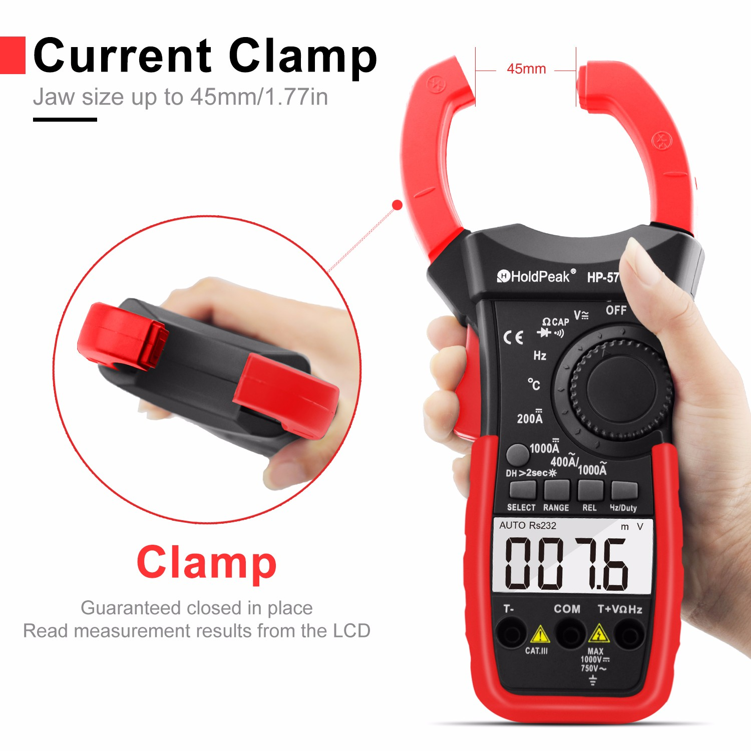 product-digital clamp multimeter power clamp meter digital clamp meter HP-570C-APP-HoldPeak-img