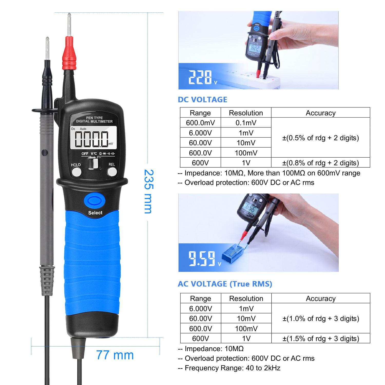 HoldPeak Custom digital voltmeter and ammeter circuit Supply for electrical-1