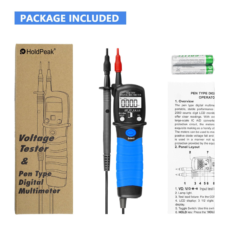 HoldPeak Custom digital voltmeter and ammeter circuit Supply for electrical-7