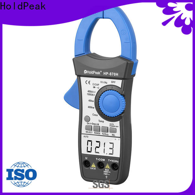 HoldPeak voltage rms clamp meter for business for communcations for manufacturing