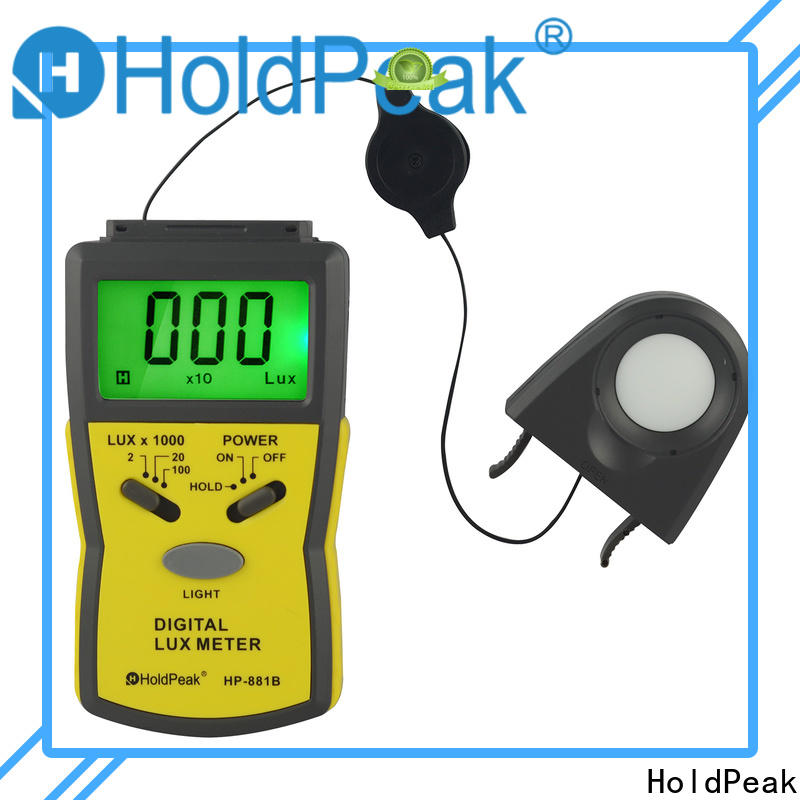 HoldPeak automatic built in light meter company for physical