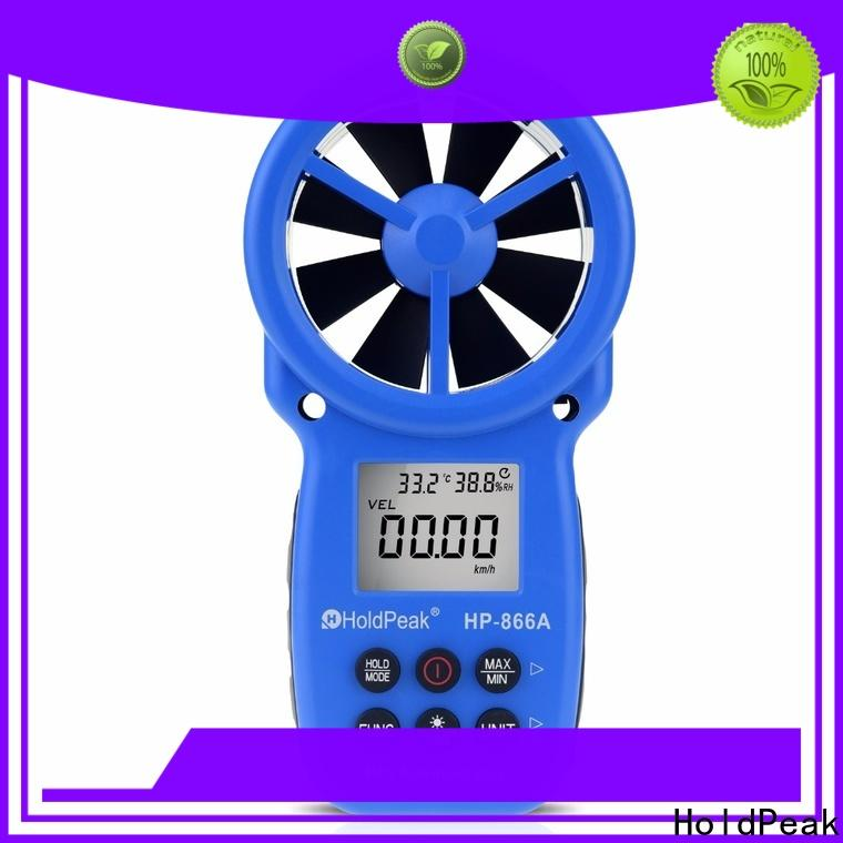 HoldPeak Best modern anemometer for business for manufacturing