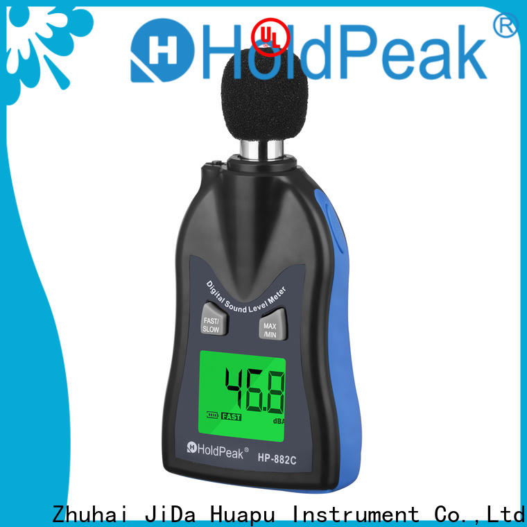 HoldPeak measurement sound frequency meter company for measuring steady state noise