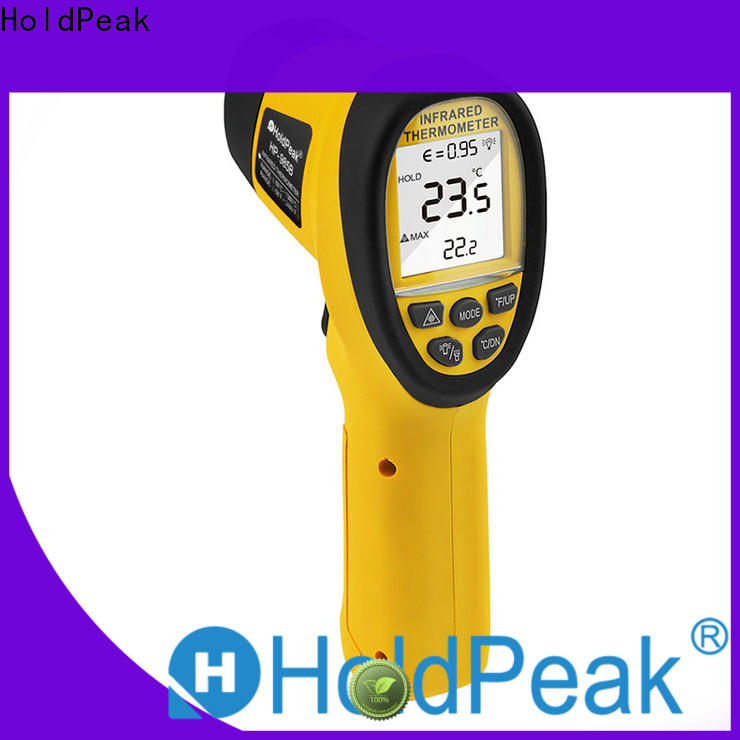 HoldPeak easy to carry laser infrared digital temperature thermometer gun for business for inspection