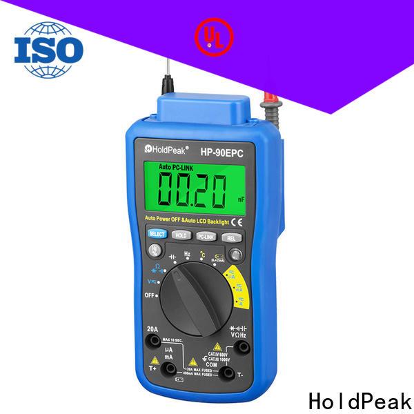 HoldPeak excellent 12 volt digital voltage meter manufacturers for physical