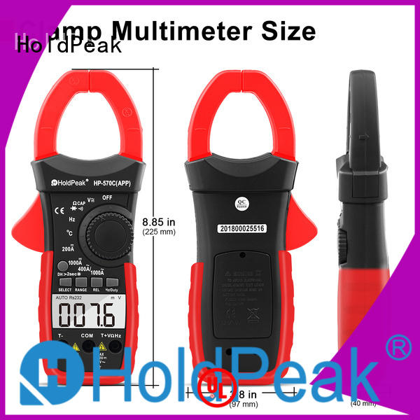 HoldPeak factor multimeter clamp meter for business for communcations for manufacturing