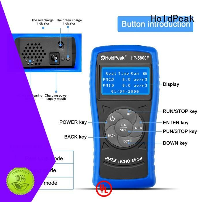 HoldPeak easy to use air quality check meter from china for hotel