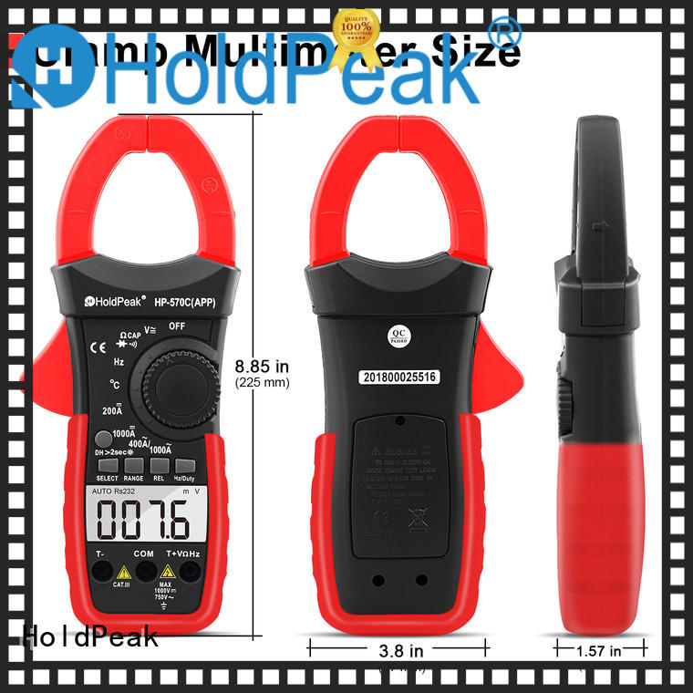 HoldPeak good looking digital clamp meter hp850a for electricity chemical industries