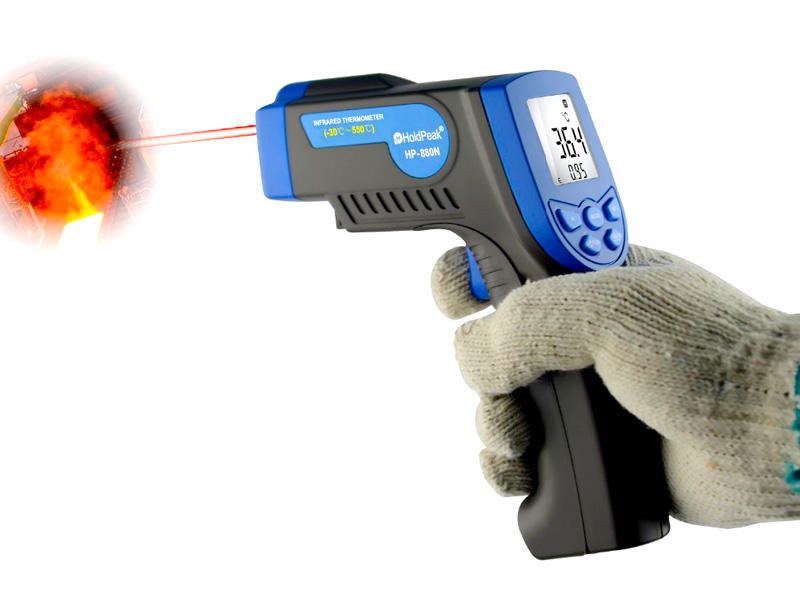product-HoldPeak-HoldPeak noncontact infrared laser thermometer button design for industrial product