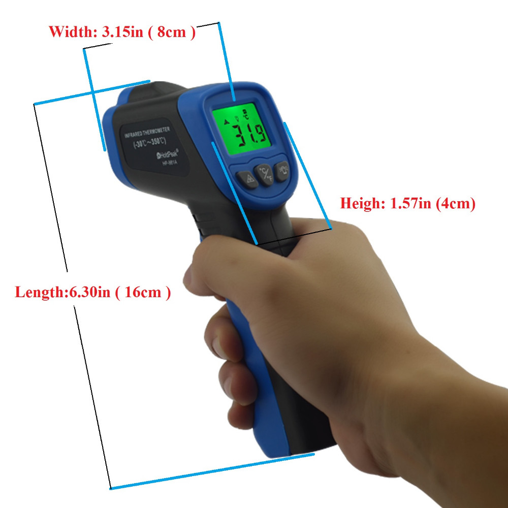 noncontact ir temperature gun for inspection-measuring instruments supplier- digital measurement instruments-electrical measuring instruments oem-HoldPeak