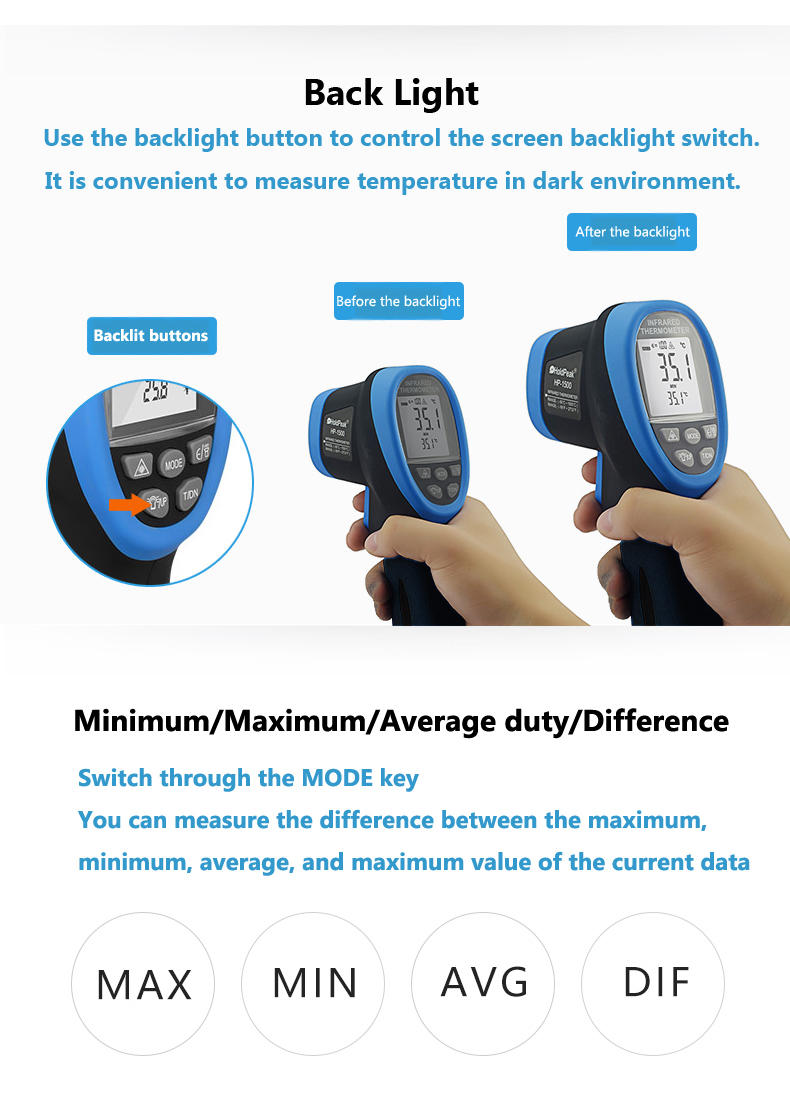 Digital Laser Infrared Thermometer HP-1500