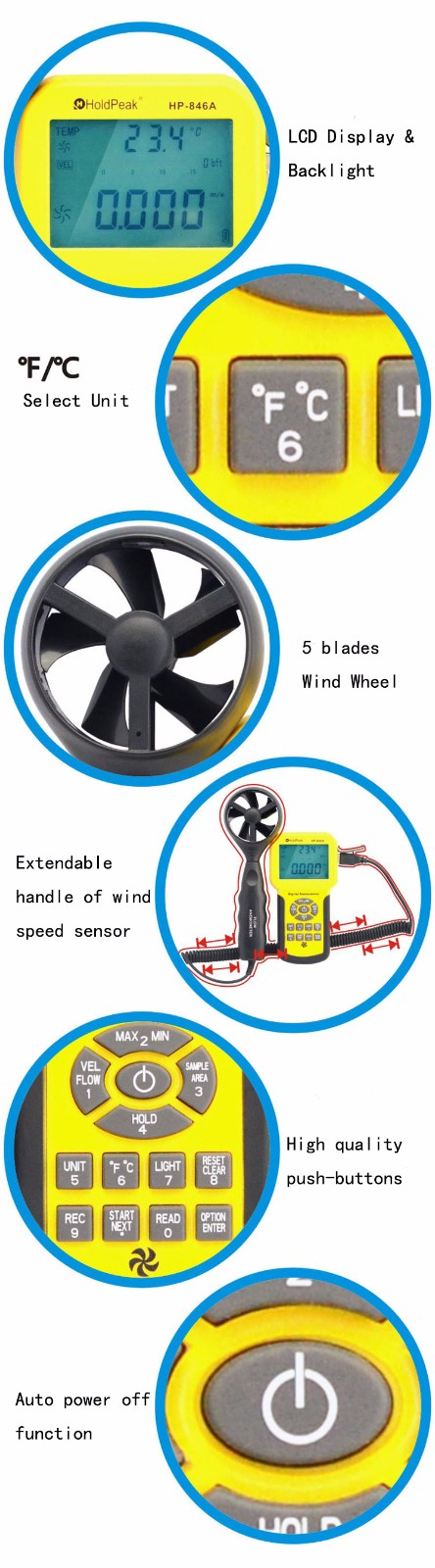 HoldPeak handheld device for measuring wind Suppliers for tower crane-4