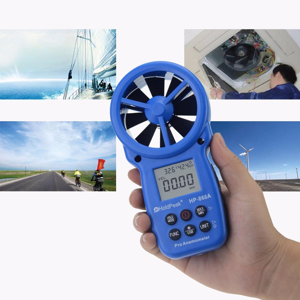 Digital Anemometer, Measurement Wind Device  wind speed meter  HP-866A