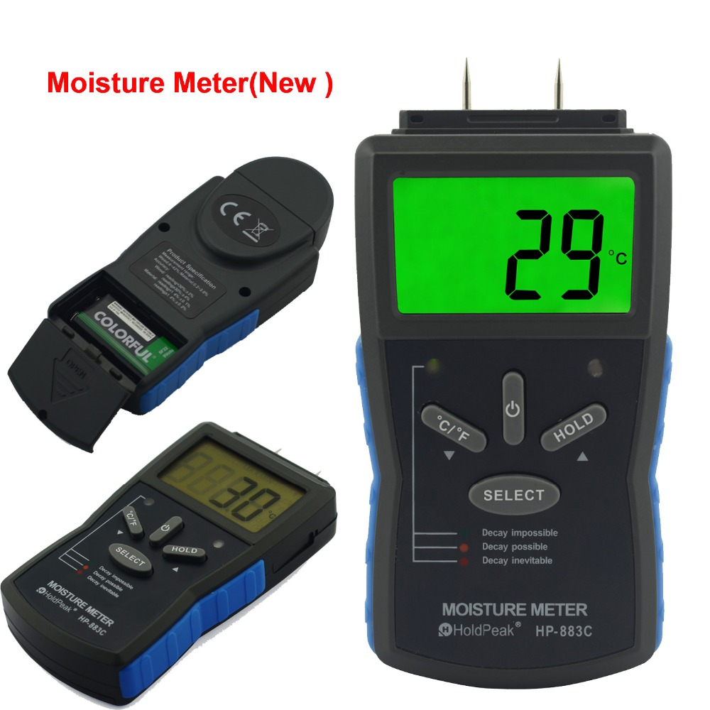 product-beat seller wood moisture meter LCD Wood Moisture Meter HP-883C-HoldPeak-img
