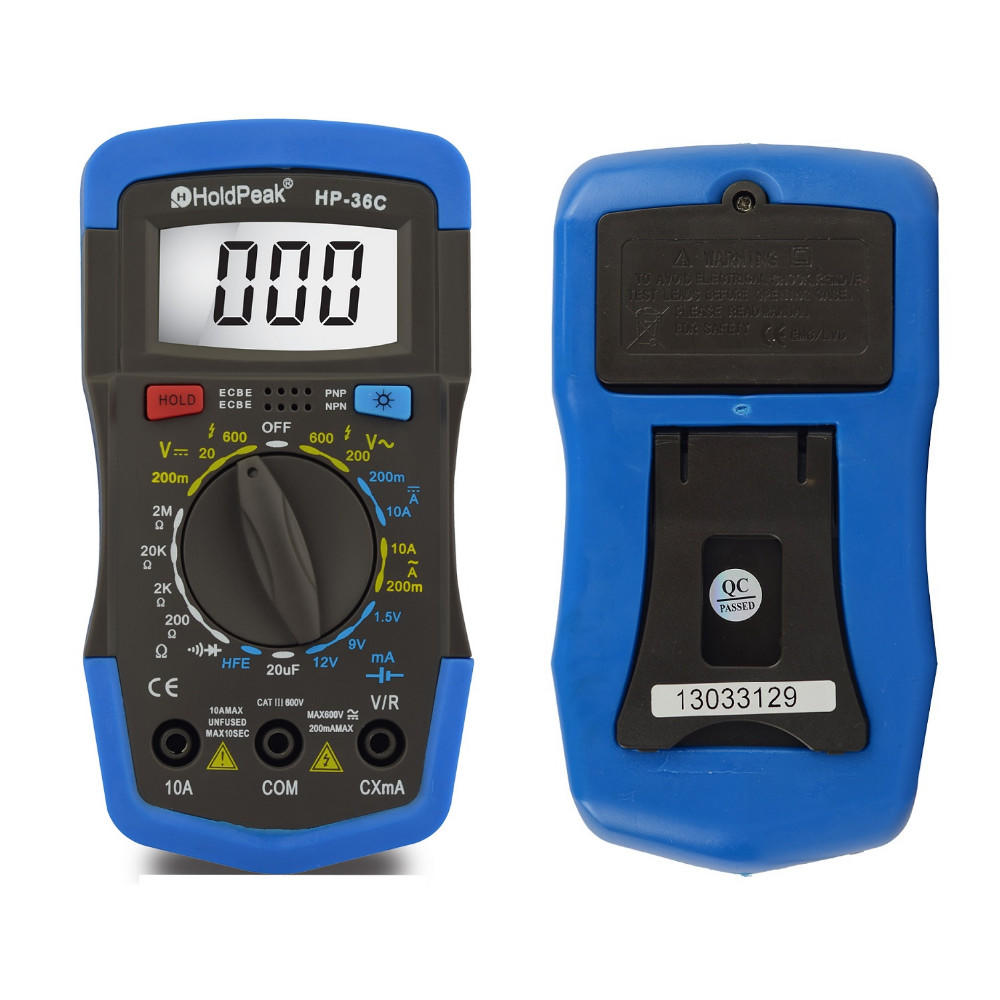 manual range select digital multimeter HP-36C