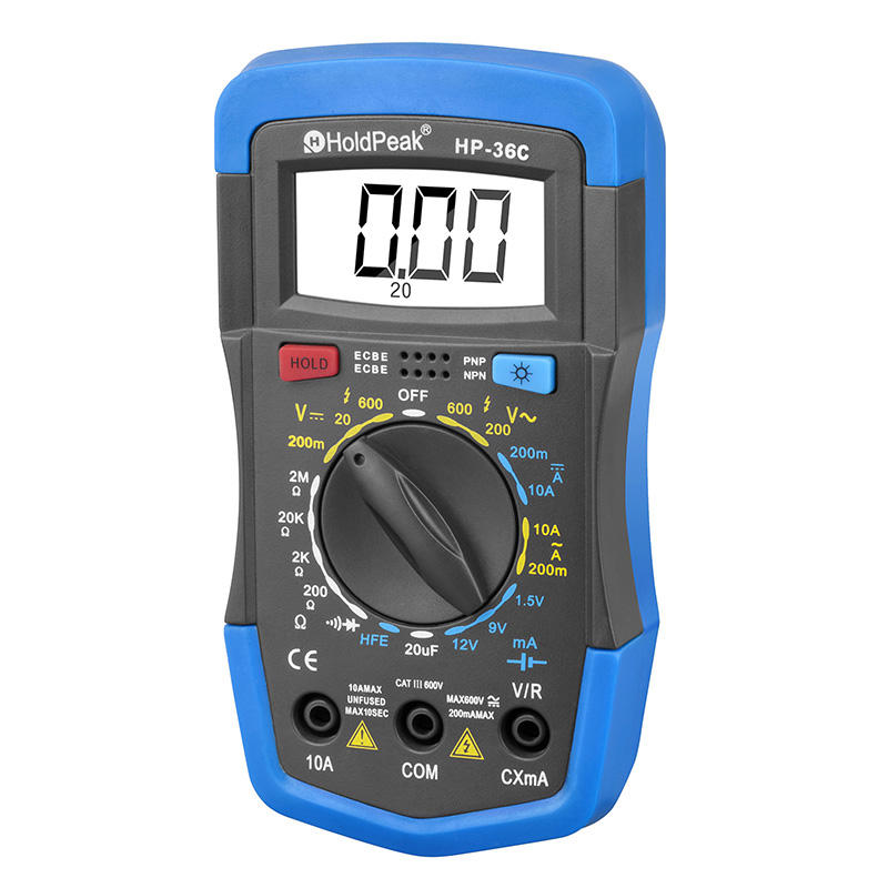 HoldPeak competetive price electrical digital multimeter connect for measurements