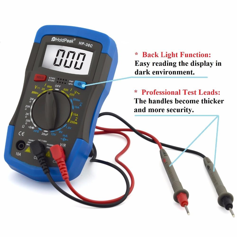 HoldPeak multimeterresistancediode digital multimeter meter Supply for electronic