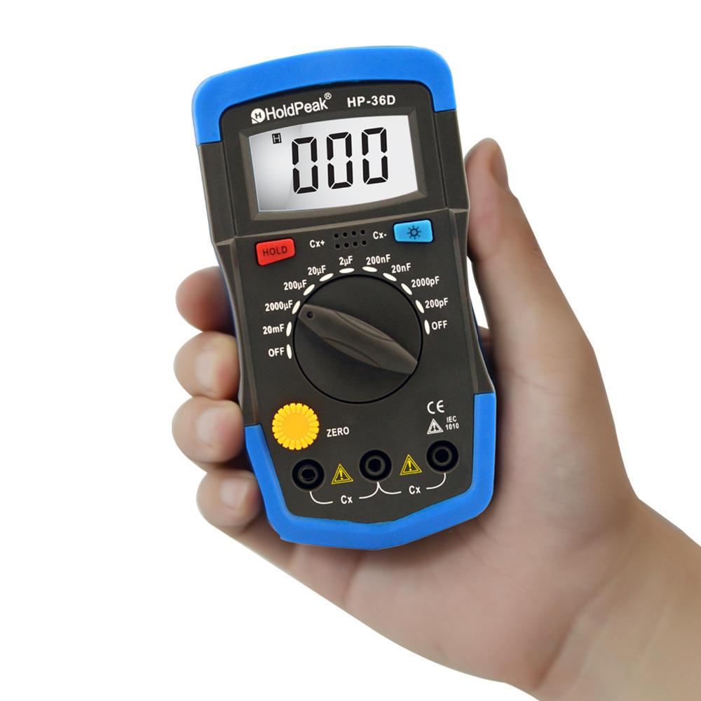 Digital Multimeter  for measure capacitance  Data Hold  Back light   HP-36D