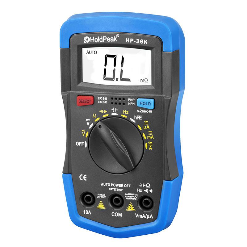 versatile, multi-range, wide use digital multimeter HP-36K