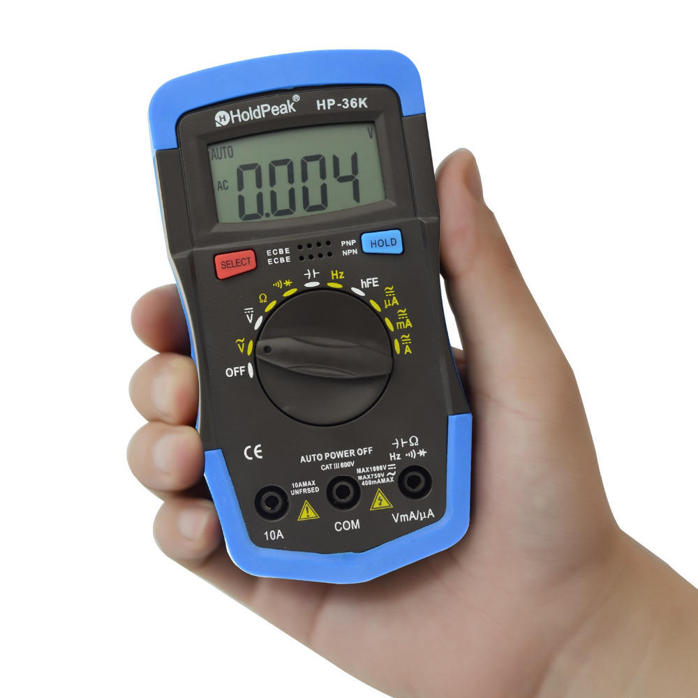 versatile, multi-range, wide use digital multimeter HP-36K