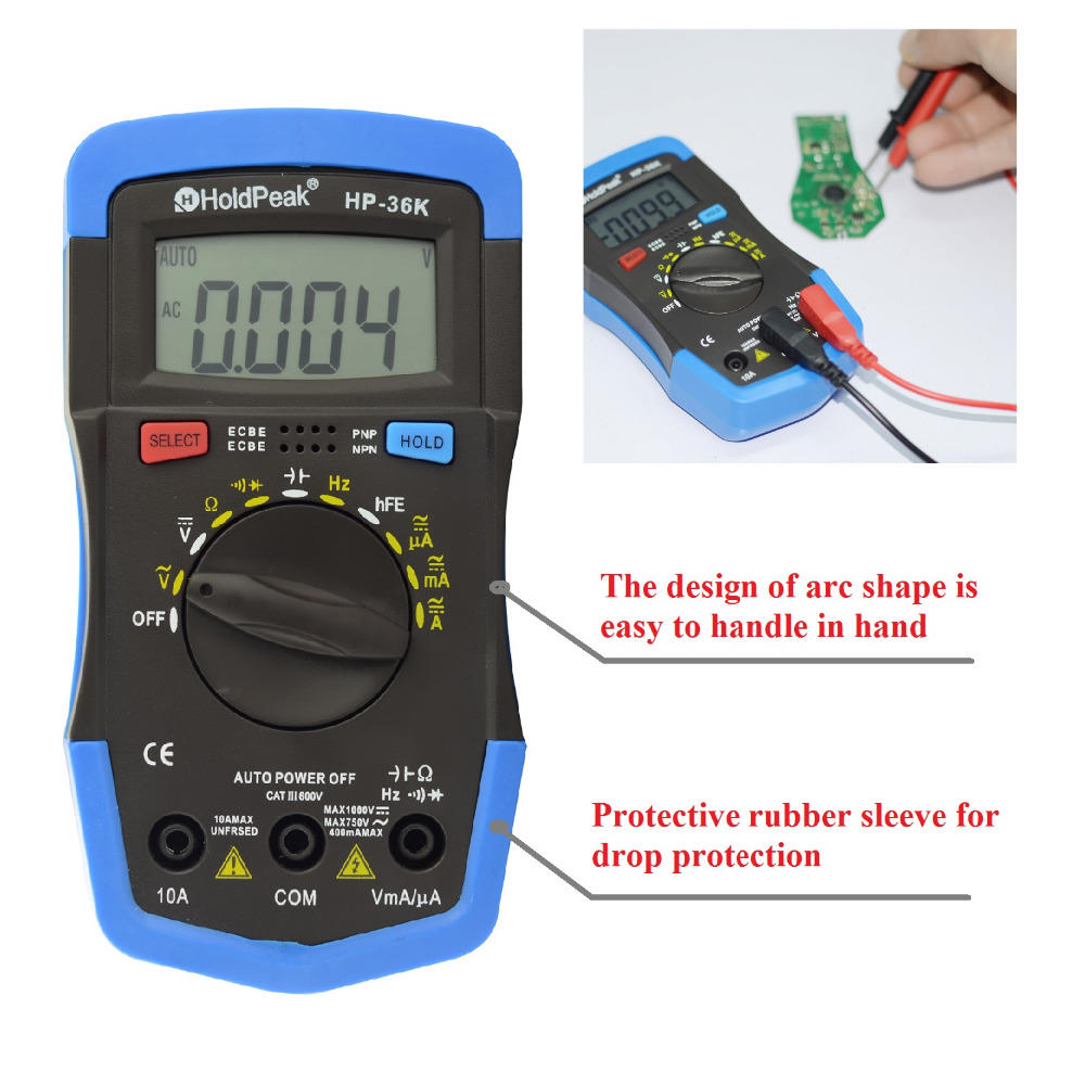 HoldPeak Custom low cost voltmeter manufacturers for testing