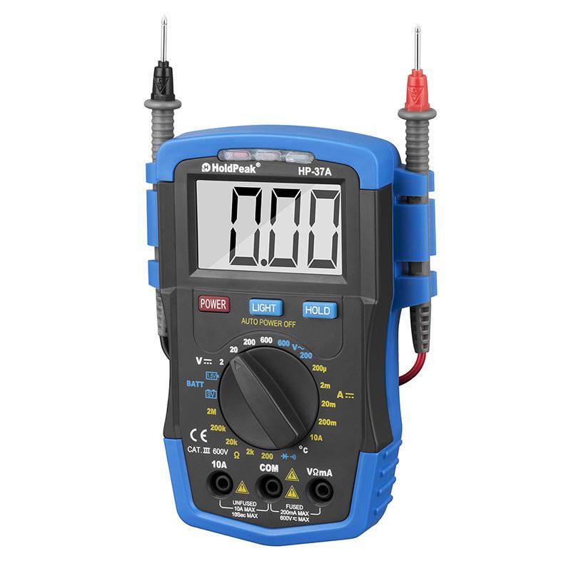 mini manual digital multimeter,diode test,auto power off,HP-37A
