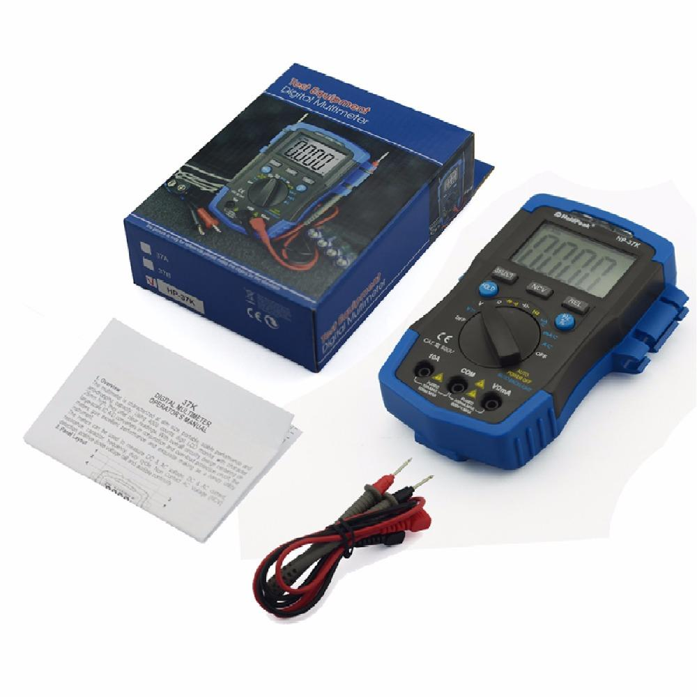 mini manual digital multimeter,diode test,auto power off,HP-37A