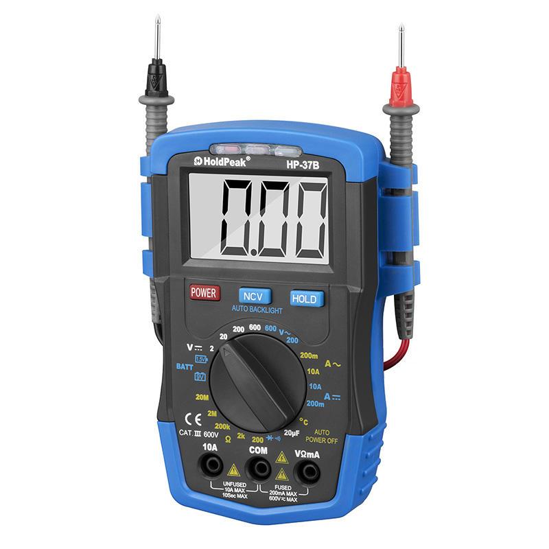 Tester Digital Multimeter for Ac/dc Voltage, Ac/dc Current, Resistance HP-37B