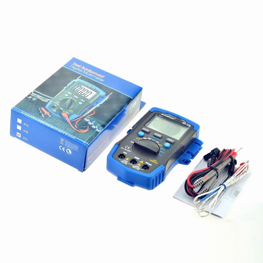 Tester Digital Multimeter for Ac/dc Voltage, Ac/dc Current, Resistance HP-37B