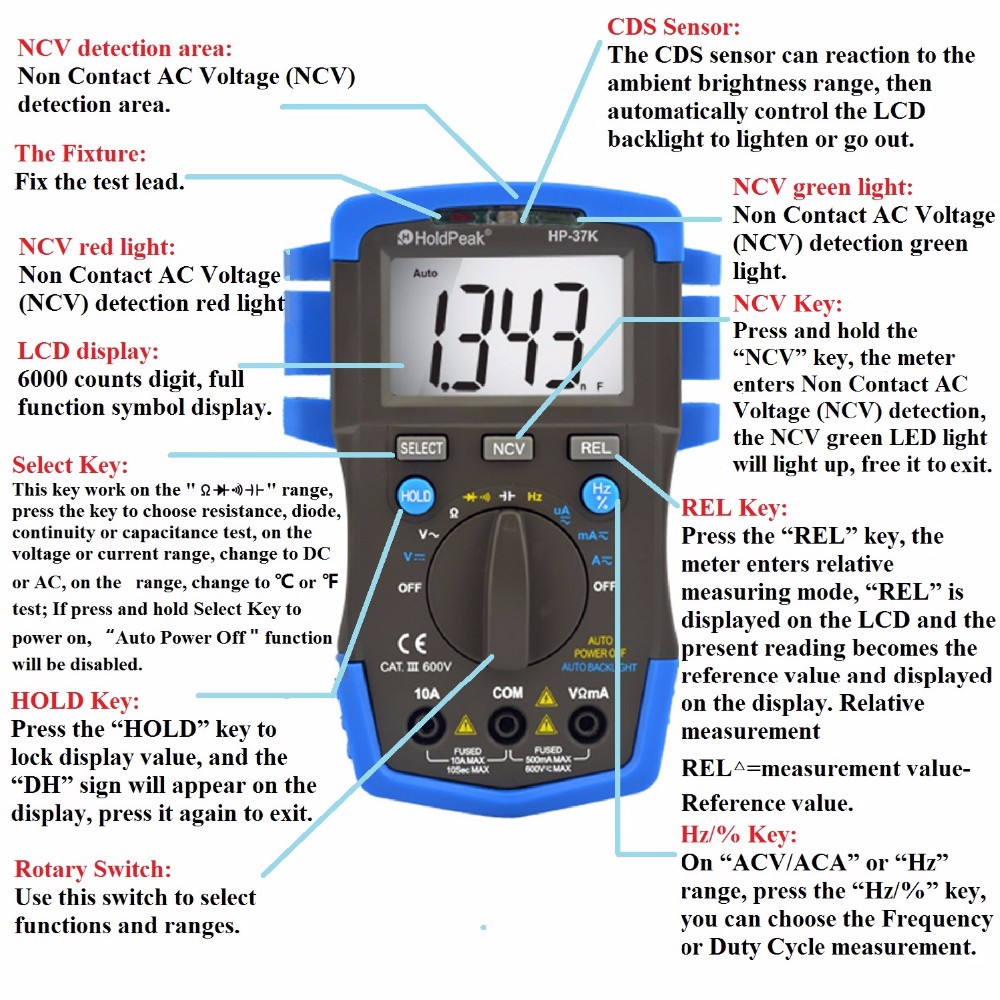 HoldPeak stable how can use multimeter factory for electronic-1