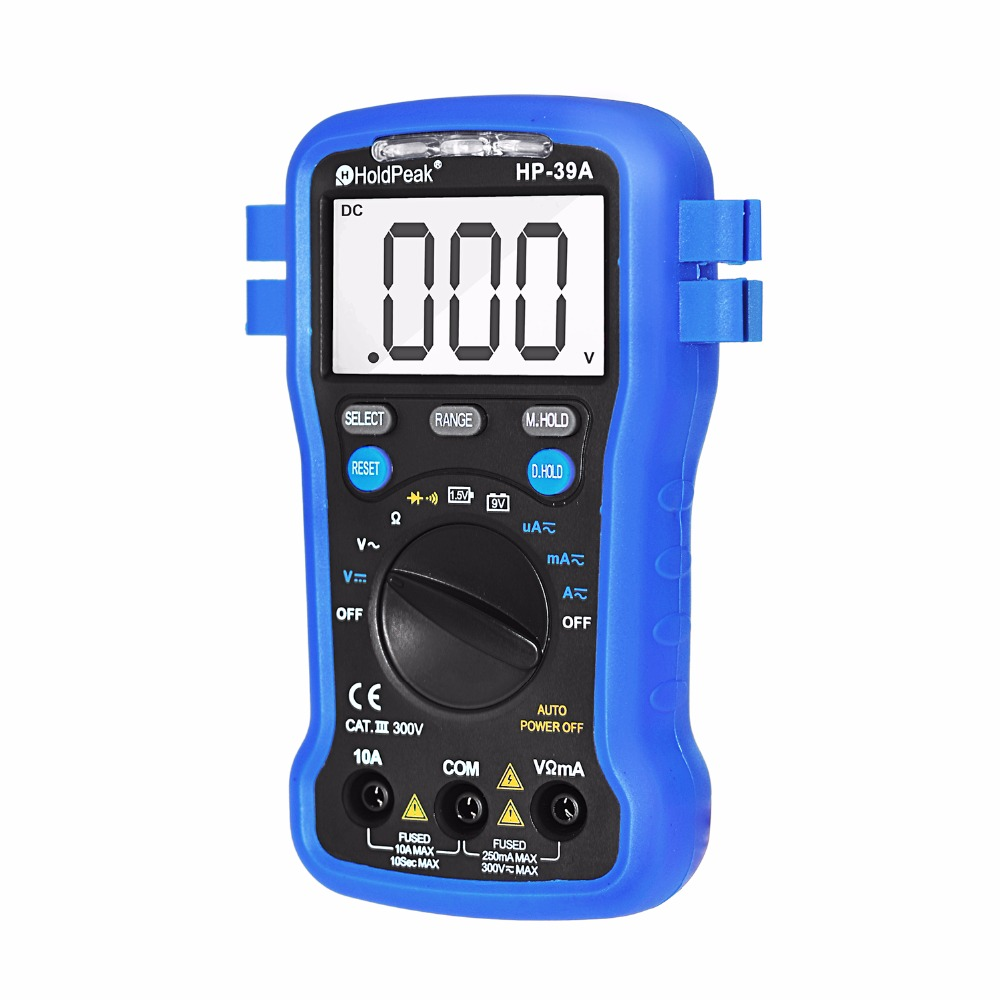 product-basic digital multimeter,continuity buzzer,data hold,Max reading hold,HP-39A-HoldPeak-img