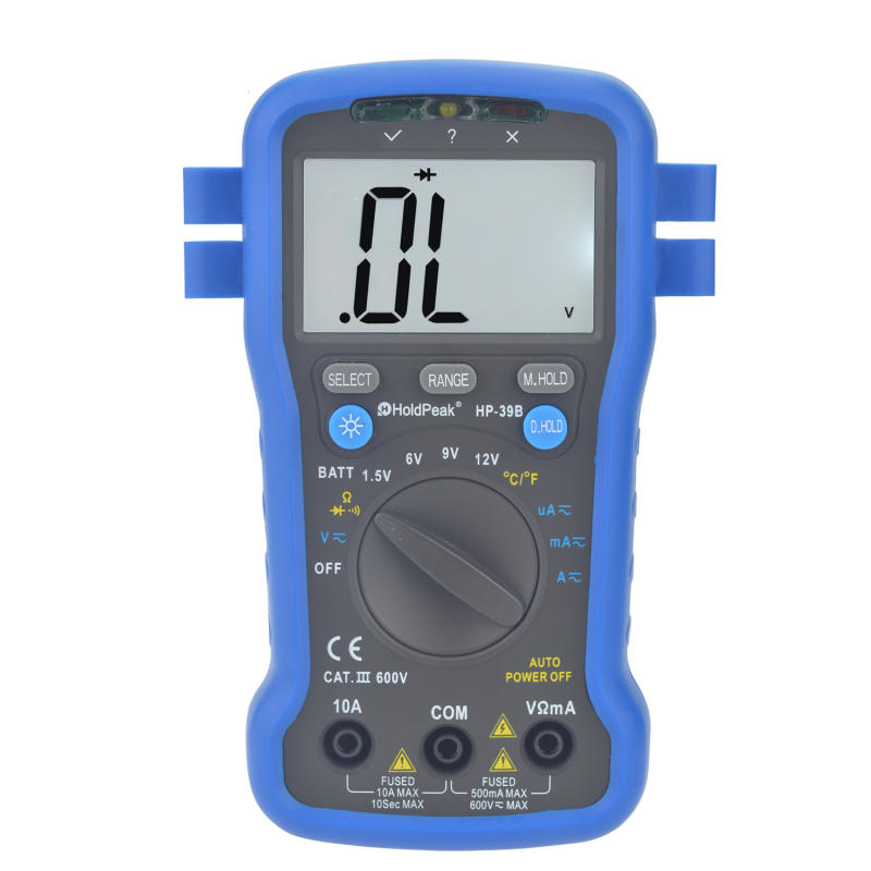 auto range multimeter.resistance.diode test,continuity buzzer,data hold,HP-39B