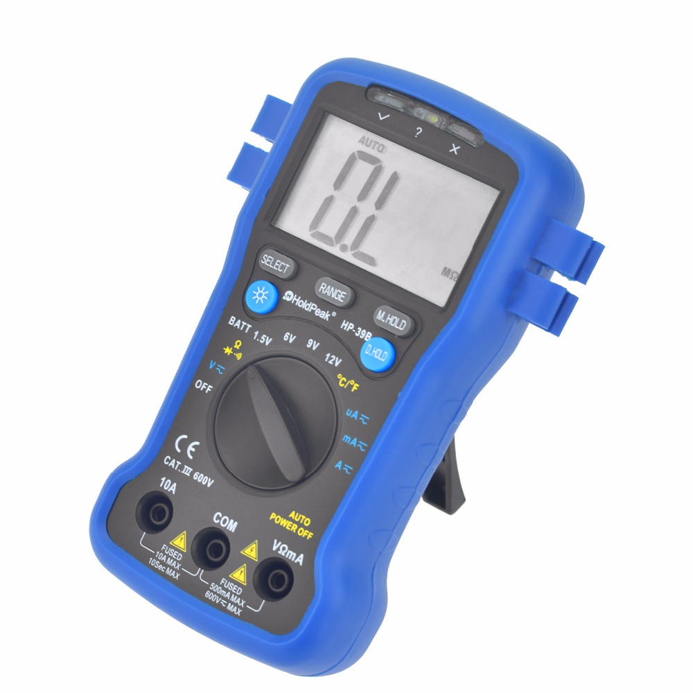 product-auto range multimeterresistancediode test,continuity buzzer,data hold,HP-39B-HoldPeak-img
