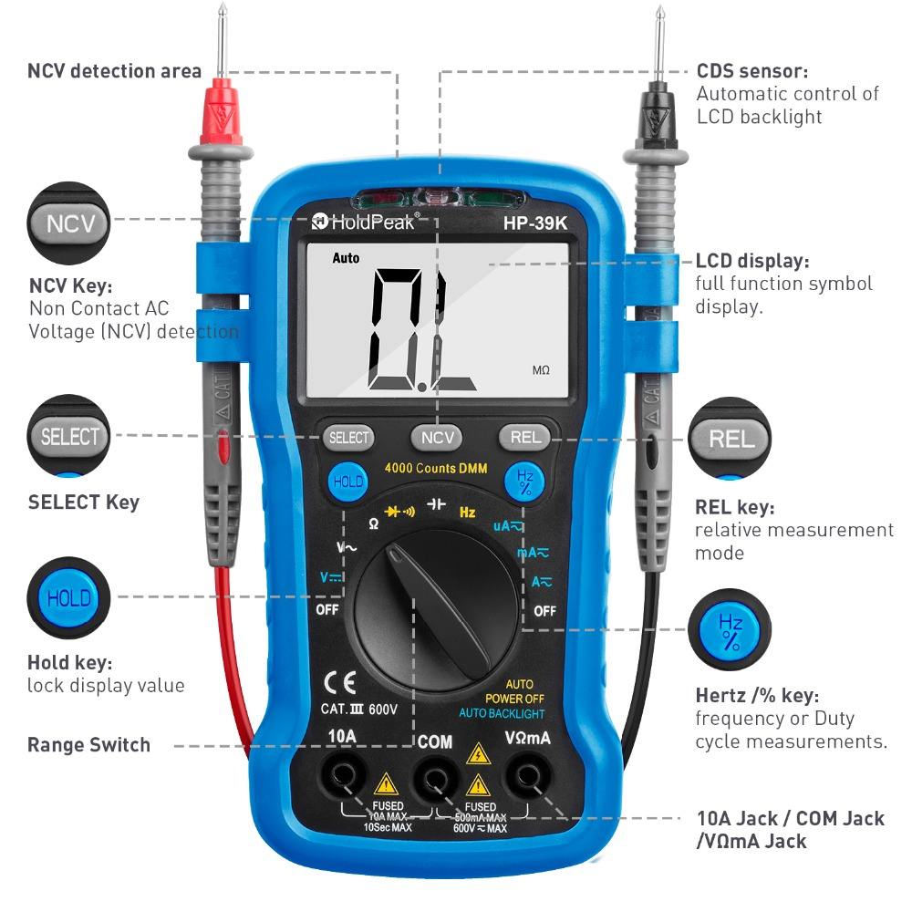 HoldPeak selecttrue electronic multi tester Suppliers for testing-1