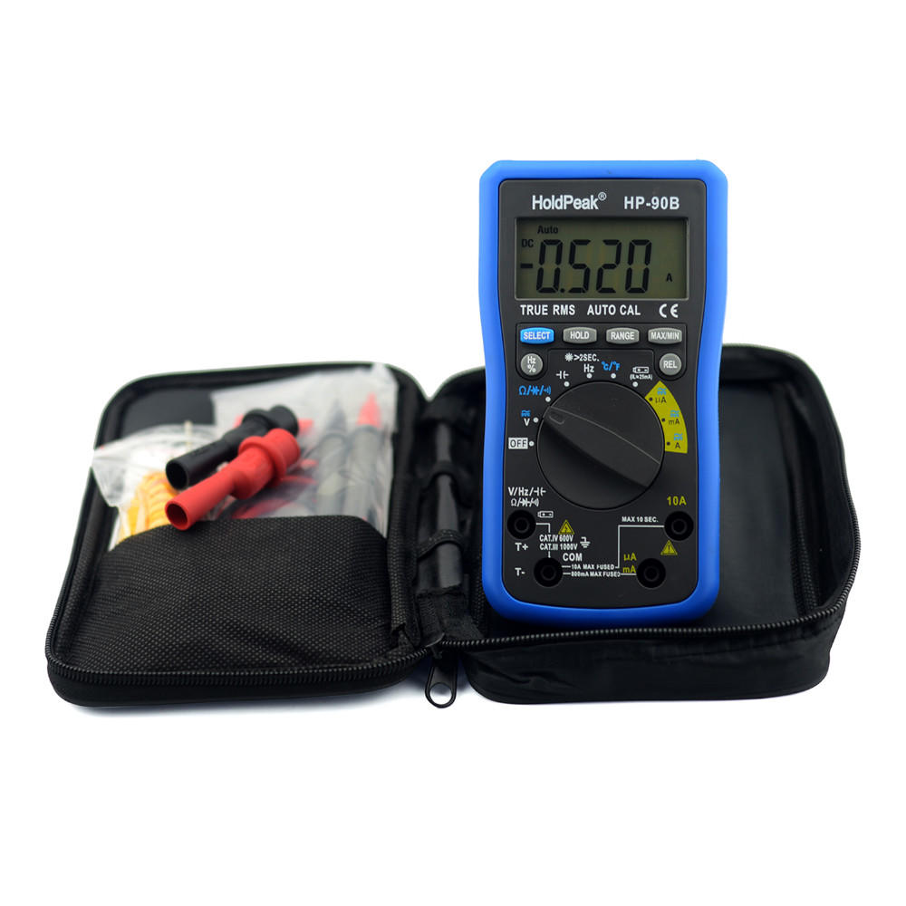 professional multimeter tester,auto range select,True RMS, solar charge and USB charge.HP-90B/BS