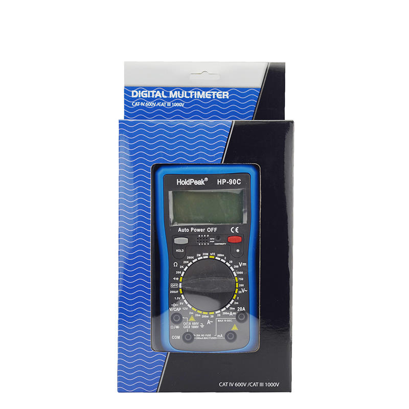 manual range select multimeter.diode test,hFE test,data backlight,HP-90C