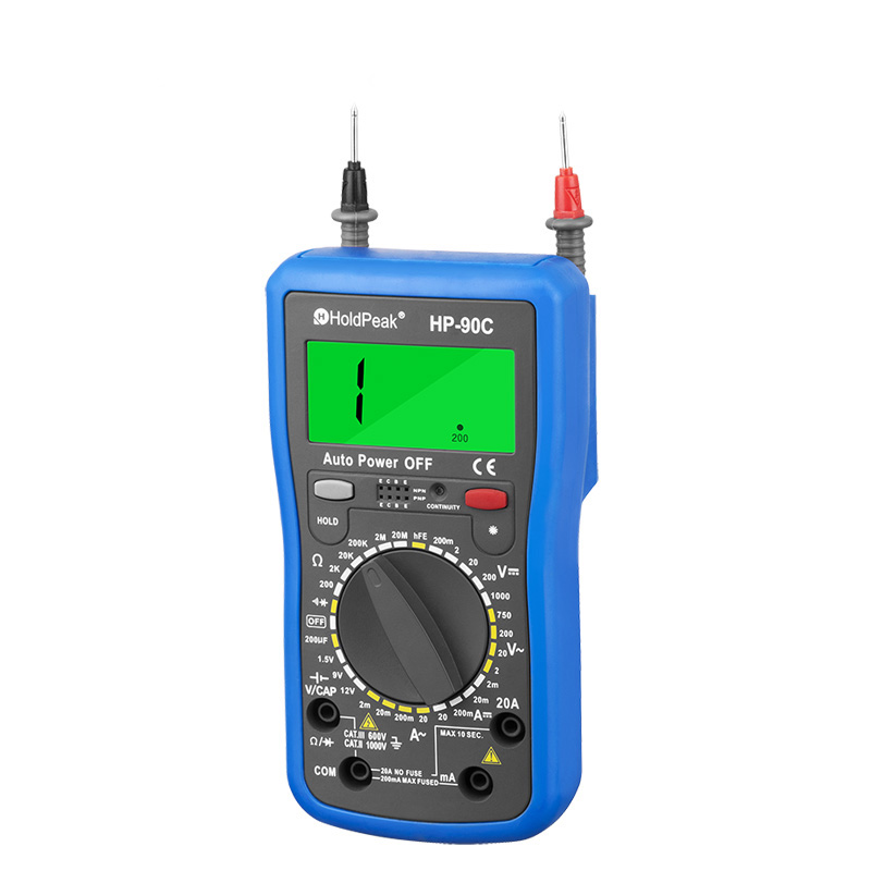 product-HoldPeak-manual range select multimeterdiode test,hFE test,data backlight,HP-90C-img