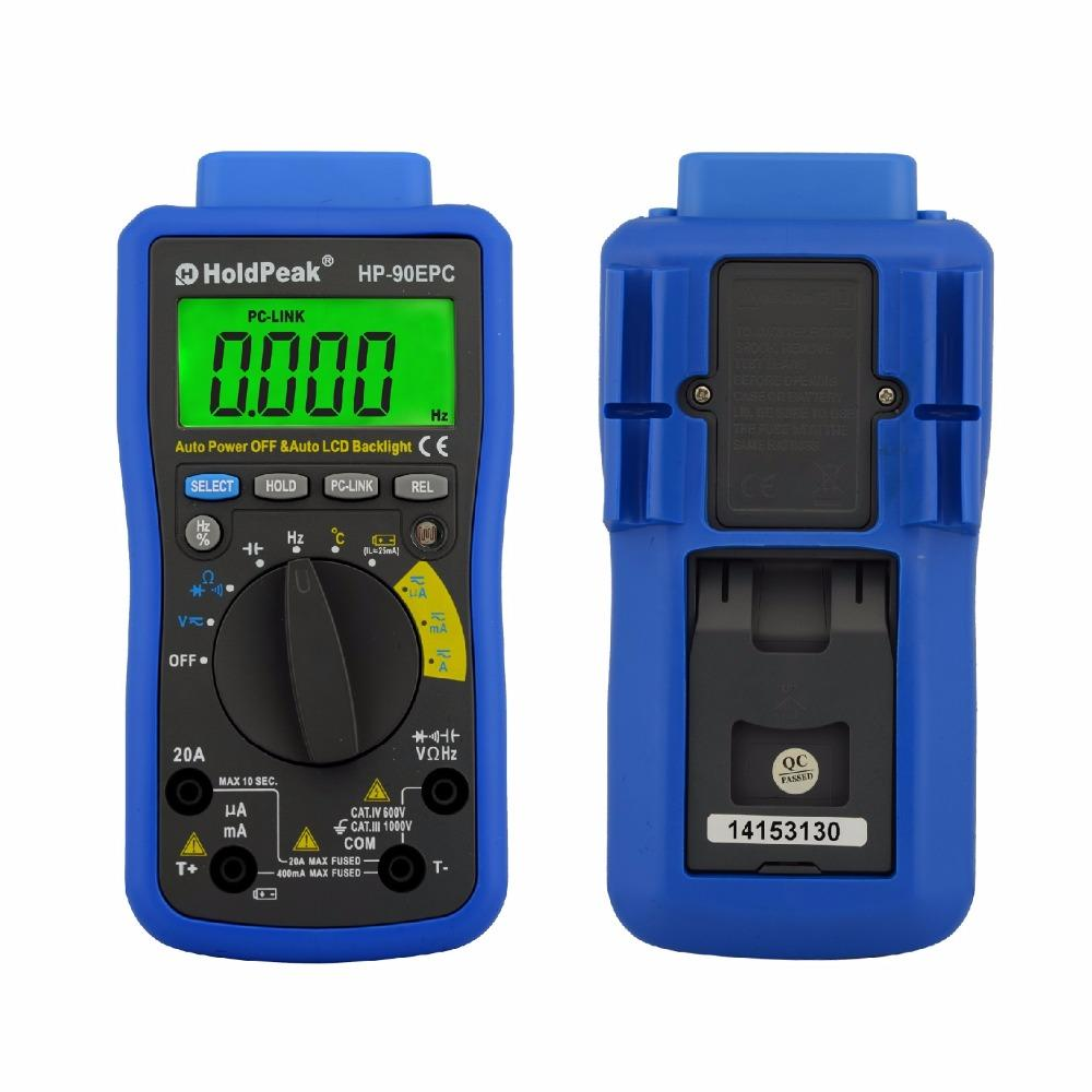 Electrical Multimeter Tester with Data analyze,connect the PC with USB/ Software CD,HP-90EPC