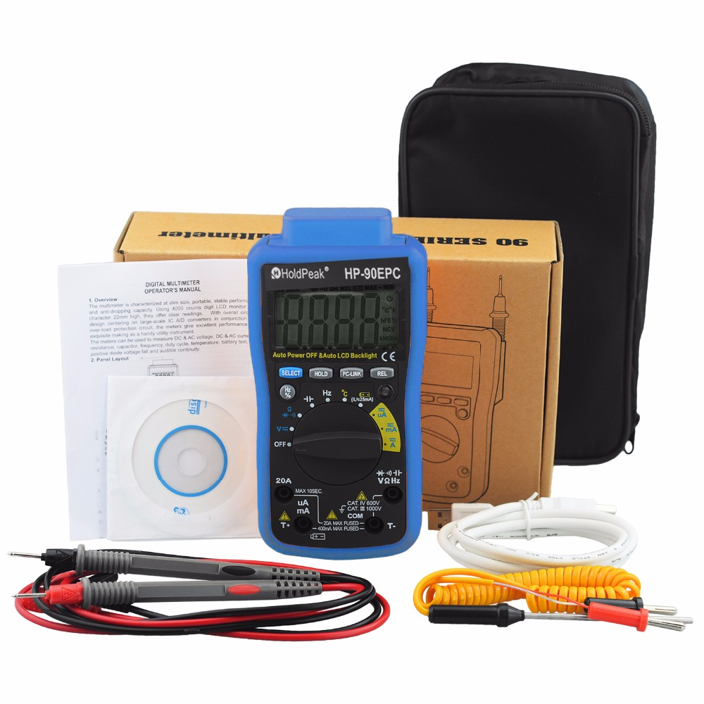 product-HoldPeak-Electrical Multimeter Tester with Data analyze,connect the PC with USB Software CD,