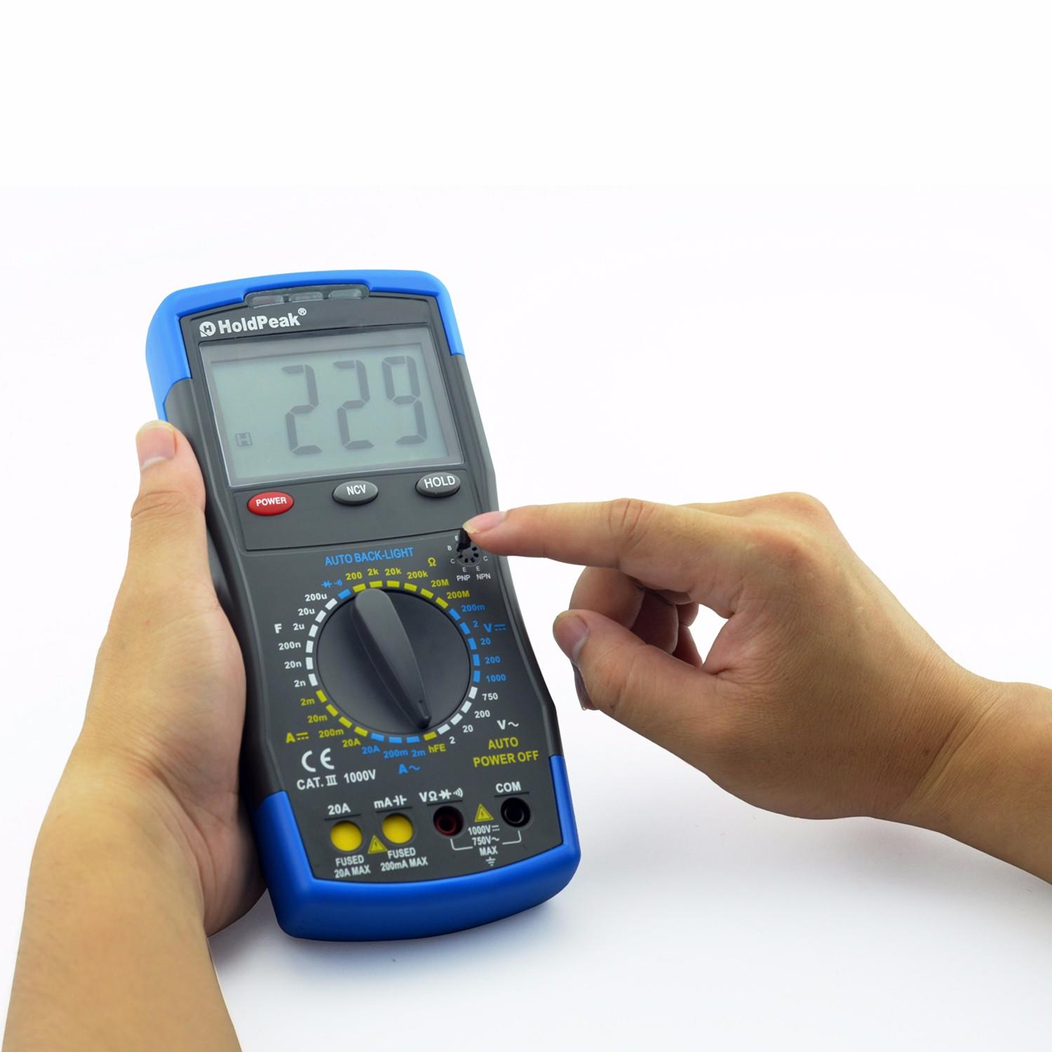 HoldPeak testing auto multimeter tester Supply for electrical