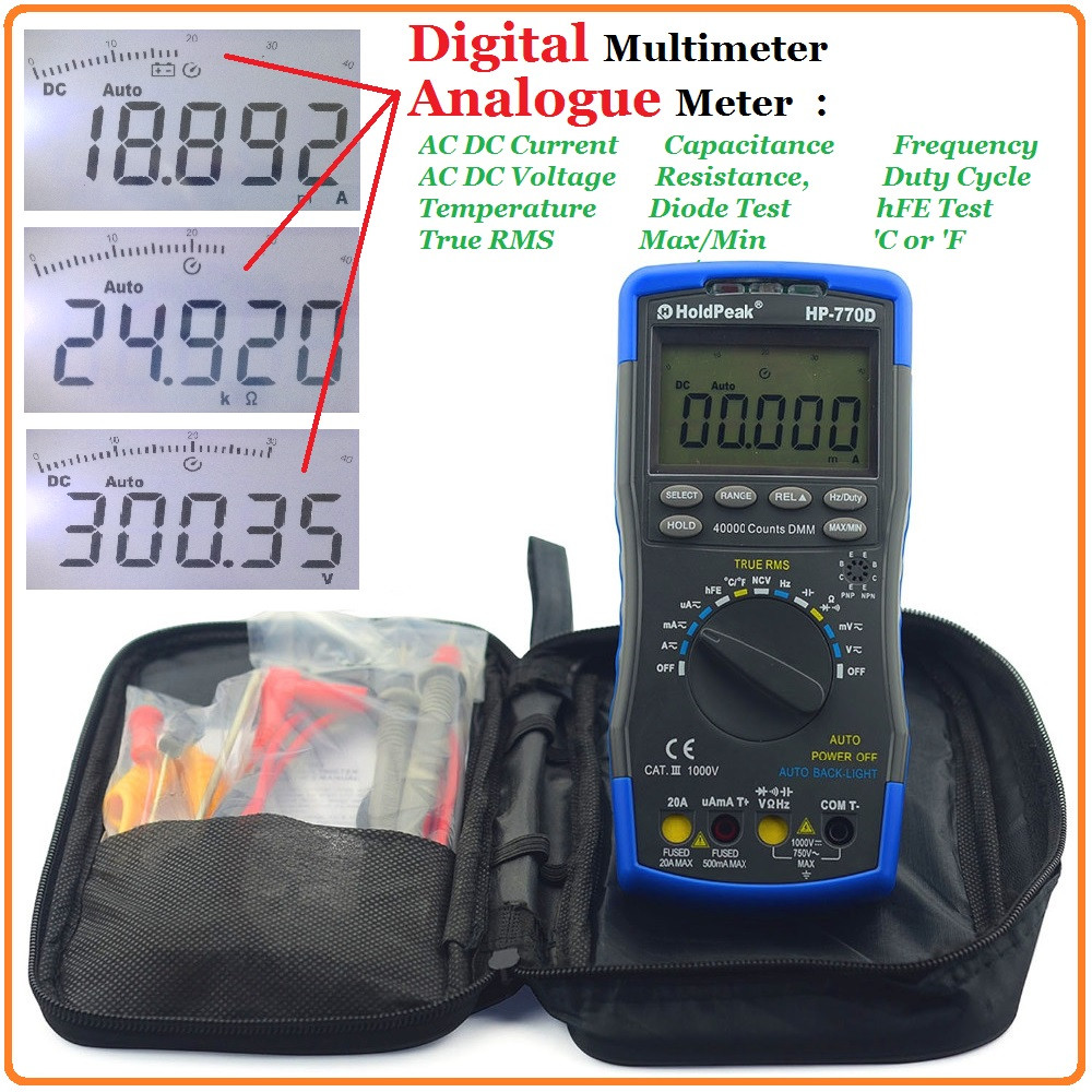product-HoldPeak-HoldPeak resistance multitester digital company for testing-img