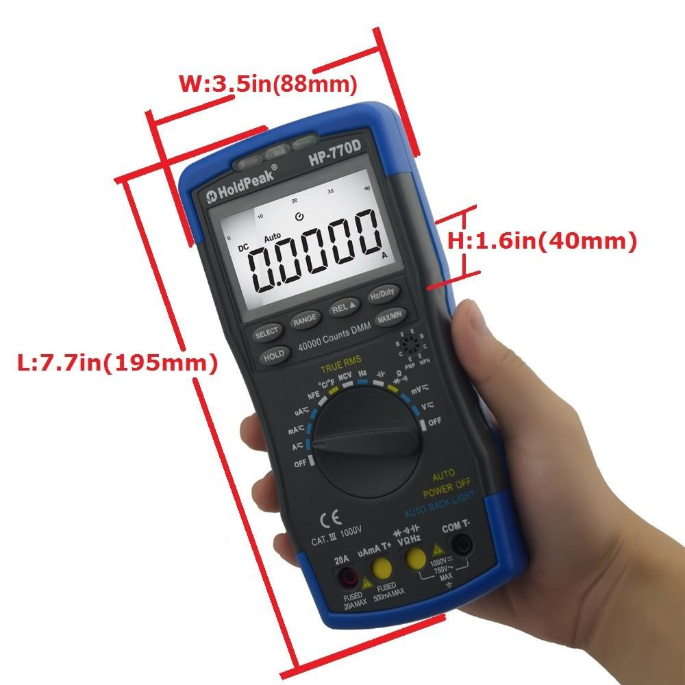 HoldPeak buzzer multimeter deals Supply for electronic