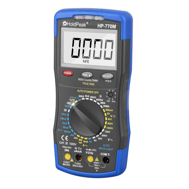 Multimeter Tester with high-resolution LCD display,backlight,HP-770M