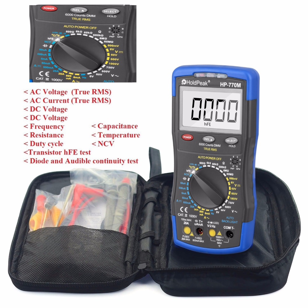 product-Multimeter Tester with high-resolution LCD display,backlight,HP-770M-HoldPeak-img