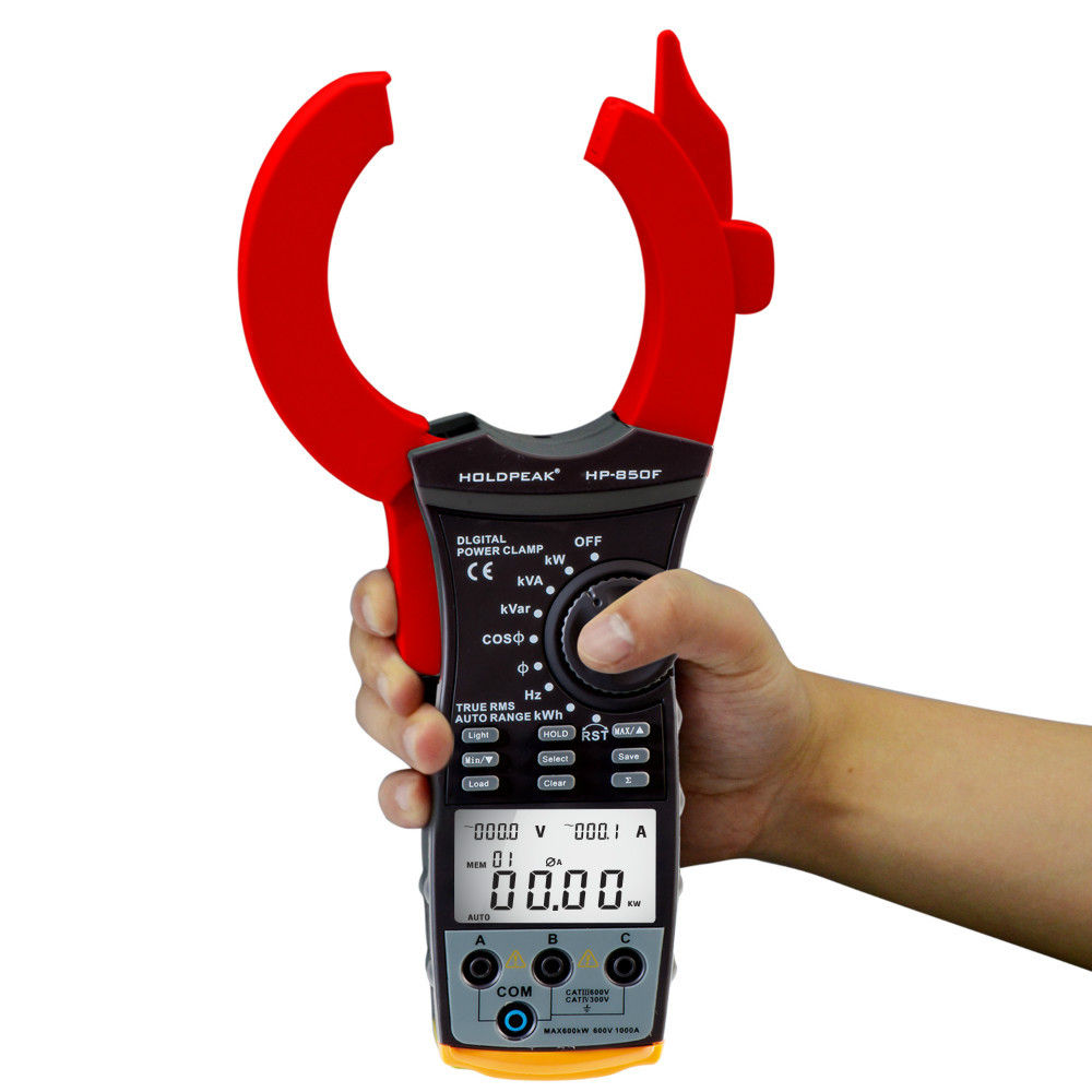product-power factor clamp meter, digital clamp meter HP-850F-HoldPeak-img