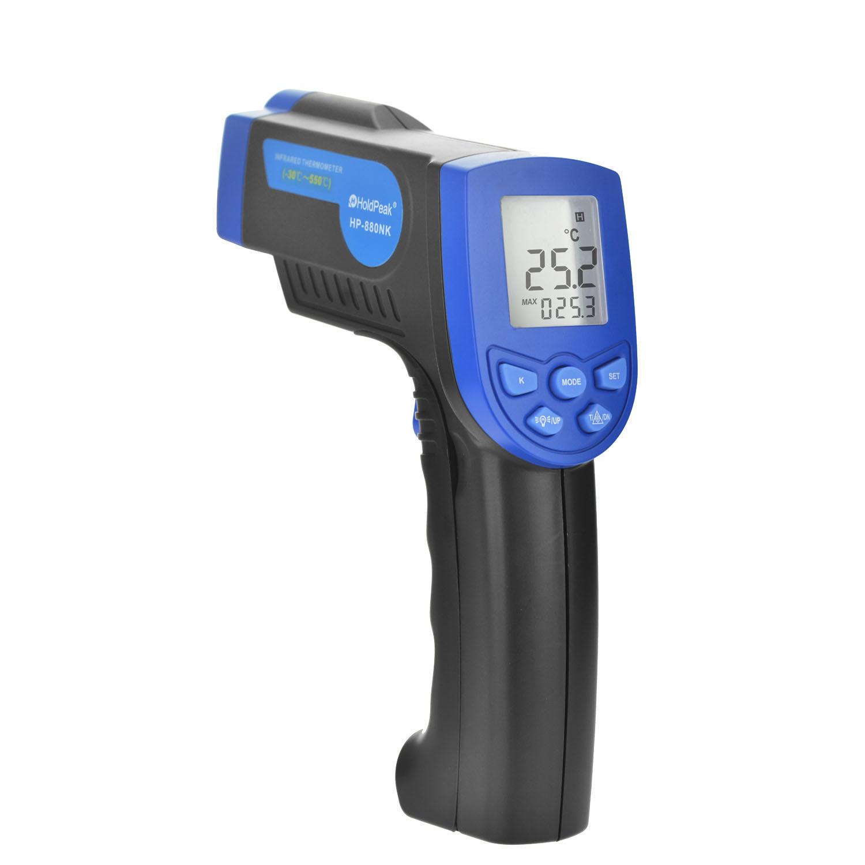 digital infrared thermometer & digital multimeter resistance measurement