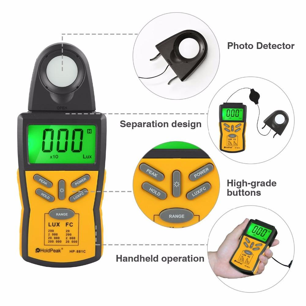 easy to use digital light meter lux free design for physical-3