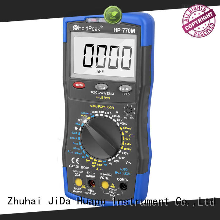 HoldPeak anti-dropping digital battery voltage meter for business for physical