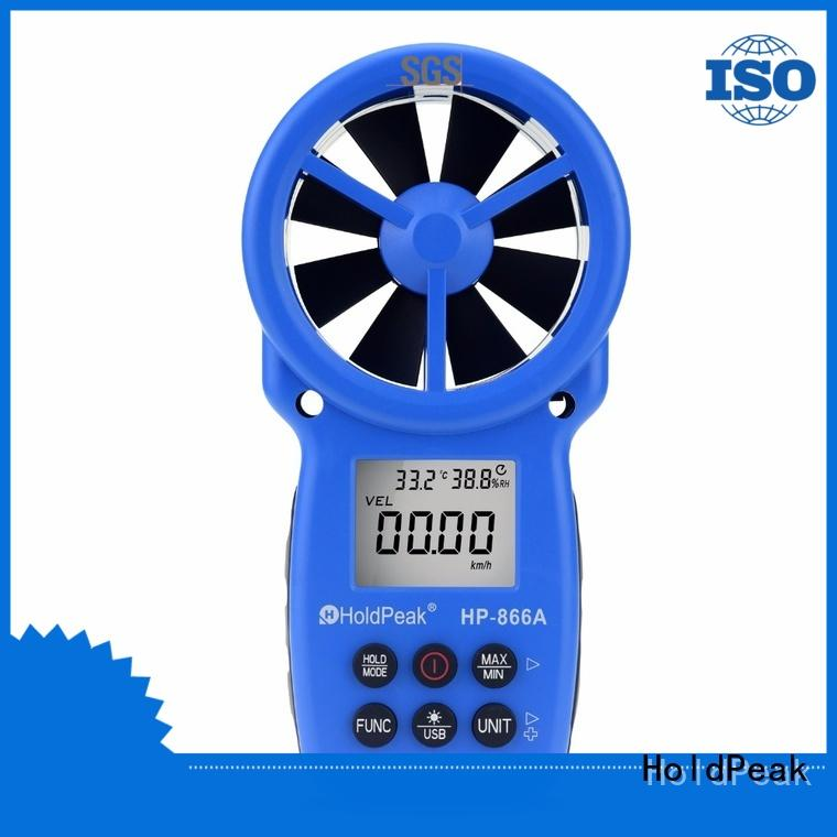 easy to use anemometer flow meter backlight for business for tower crane