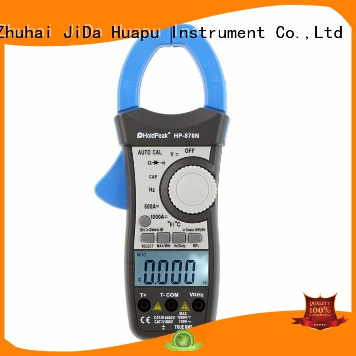 HoldPeak hp870f using clamp meter testing current Supply for communcations for manufacturing